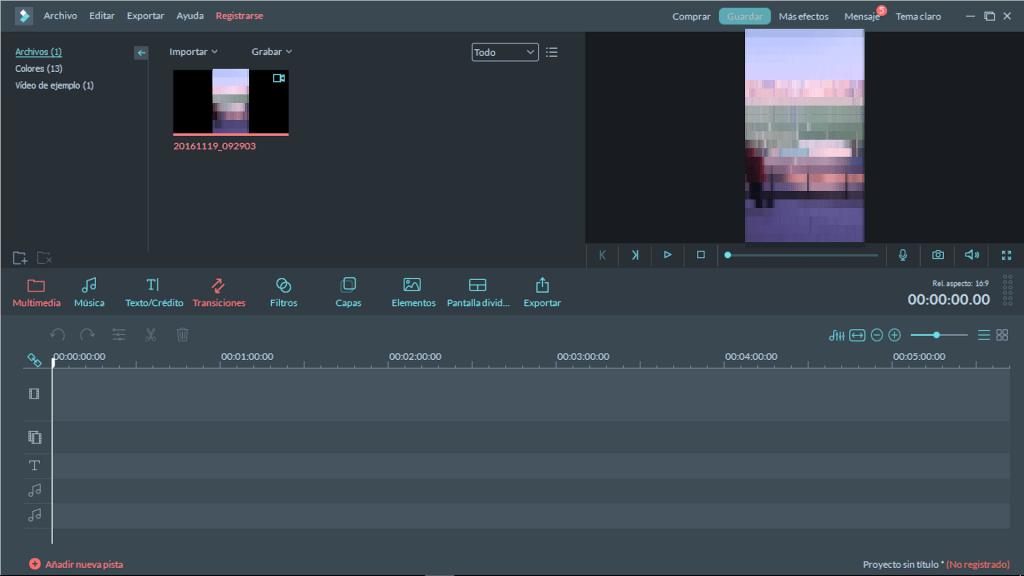 Guía rápida: Edición de vídeo con Filmora