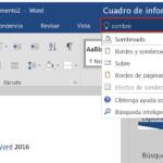 El cuadro de información ¿Qué desea hacer? en Word 2016