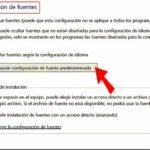 Fuentes en Windows 10