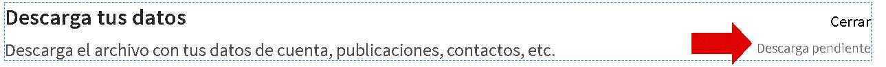 Descarga pendiente de contactos de Linkedin