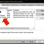 El Administrador de orígenes de datos ODBC de Windows 10