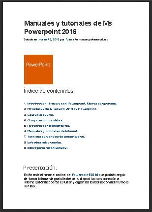 Manual de Powerpoint 2016 en PDF