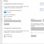 El Proxy de Windows 10