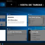 La vista tareas de Windows 10