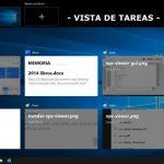 La vista tareas de Windows 10