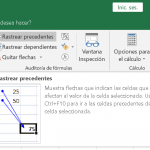La auditoría de fórmulas de Ms Excel