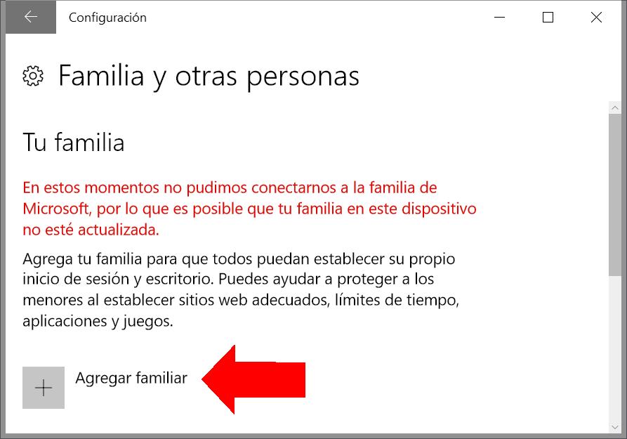 Usuarios: acceso a familia y otras personas