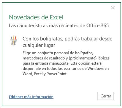 La herramienta bolígrafos de Office 365