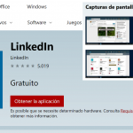 Aplicacion Linkedin para Windows 10