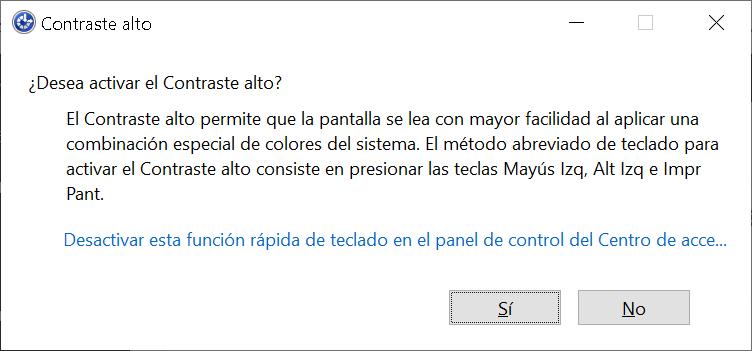 Cómo activar el contraste alto en Windows