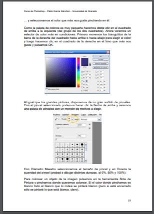 Curso de Photoshop de la Universidad de Granada en PDF