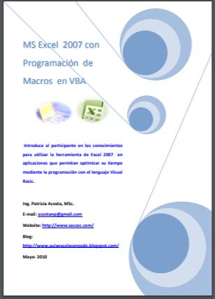 PDF ebook Programación de Macros en VBA