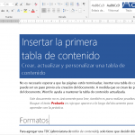 Formatos de documentos en Word