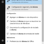 Cambiar el idioma de Windows