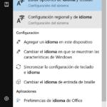 Cambiar el idioma de Windows