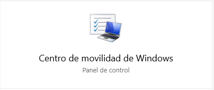 El Centro de movilidad de Windows 10