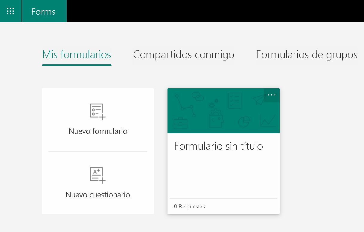 Guía rápida de Microsoft Forms
