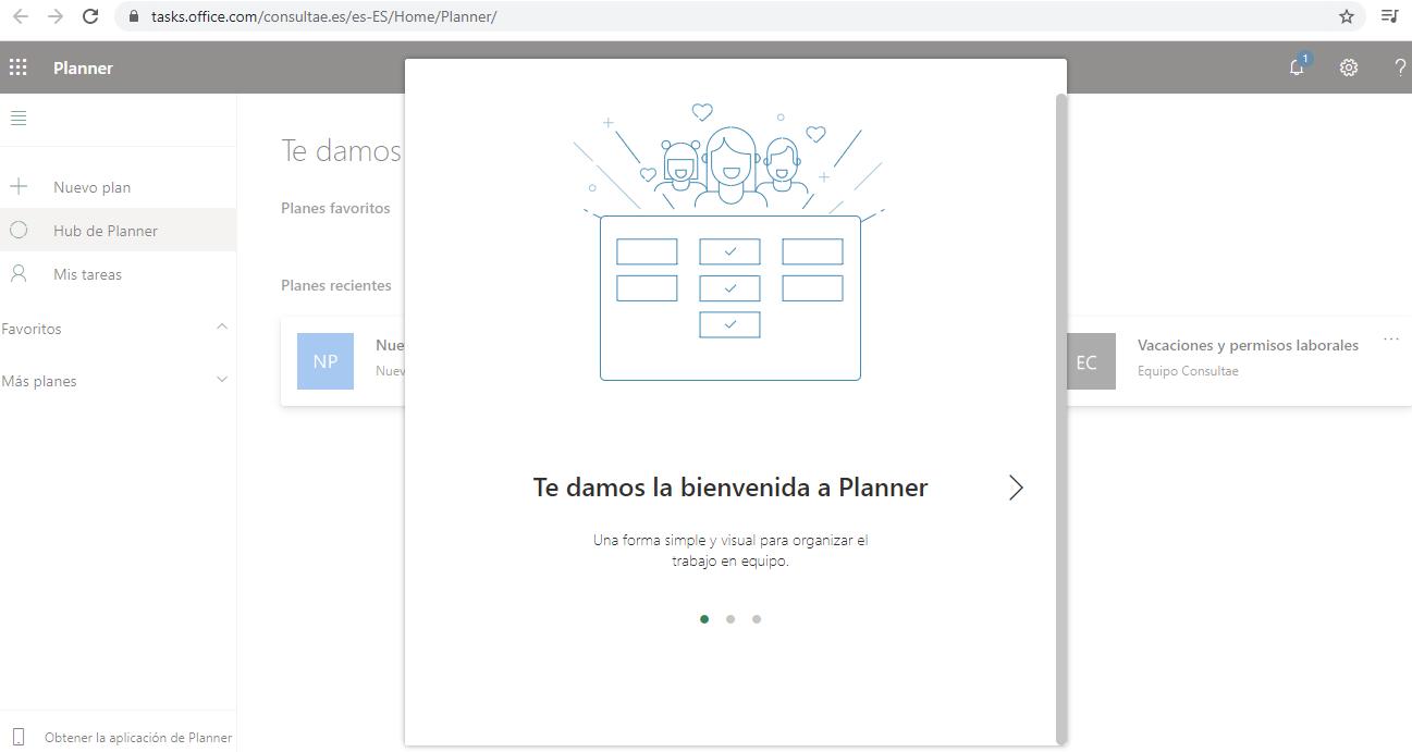 Guía rápida Microsoft Planner