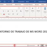 Entorno de trabajo de Ms Word 2019