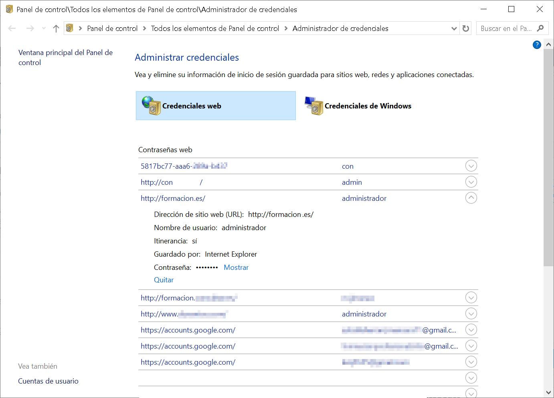 El Administrador de credenciales de Windows 10