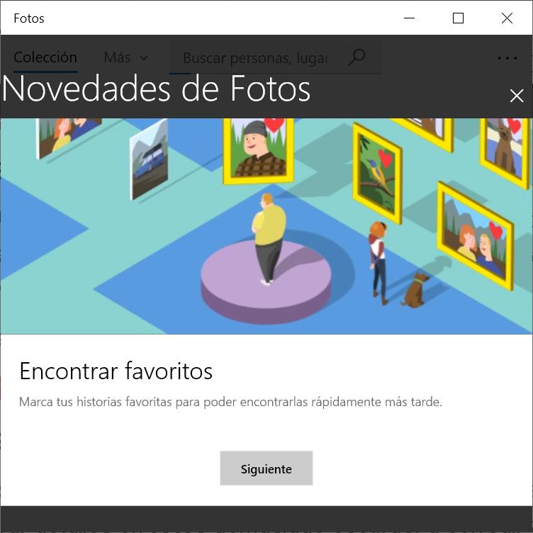 Novedades APP Fotos de Windows 10