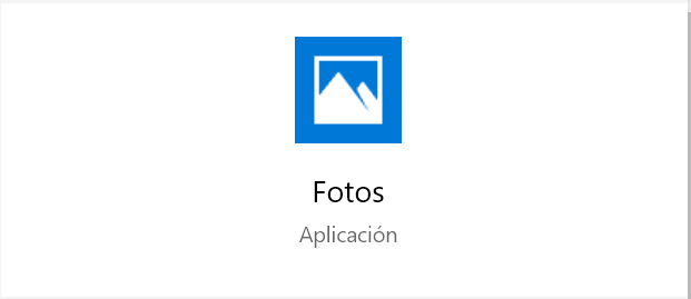 La APP Fotos de Windows 10