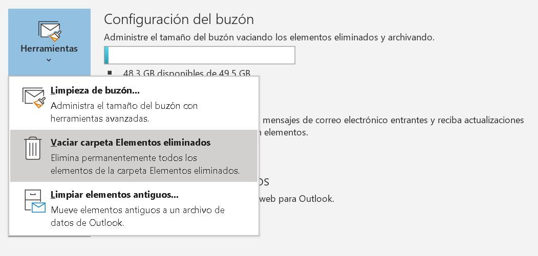 Buzón de email de Outlook