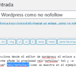 Marcar un enlace en WordPress como no nofollow