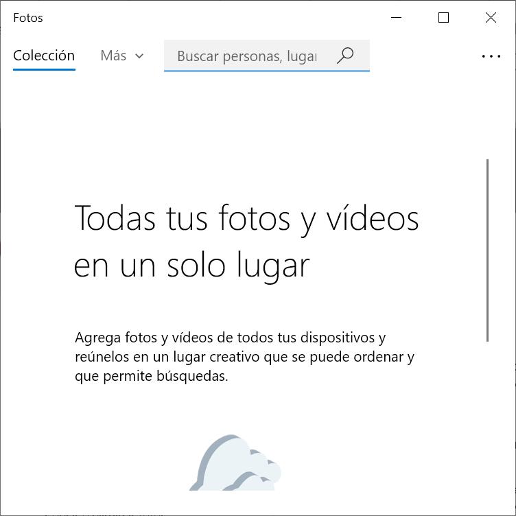 APP Fotos de Windows 10
