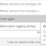 Crear reglas en Outlook