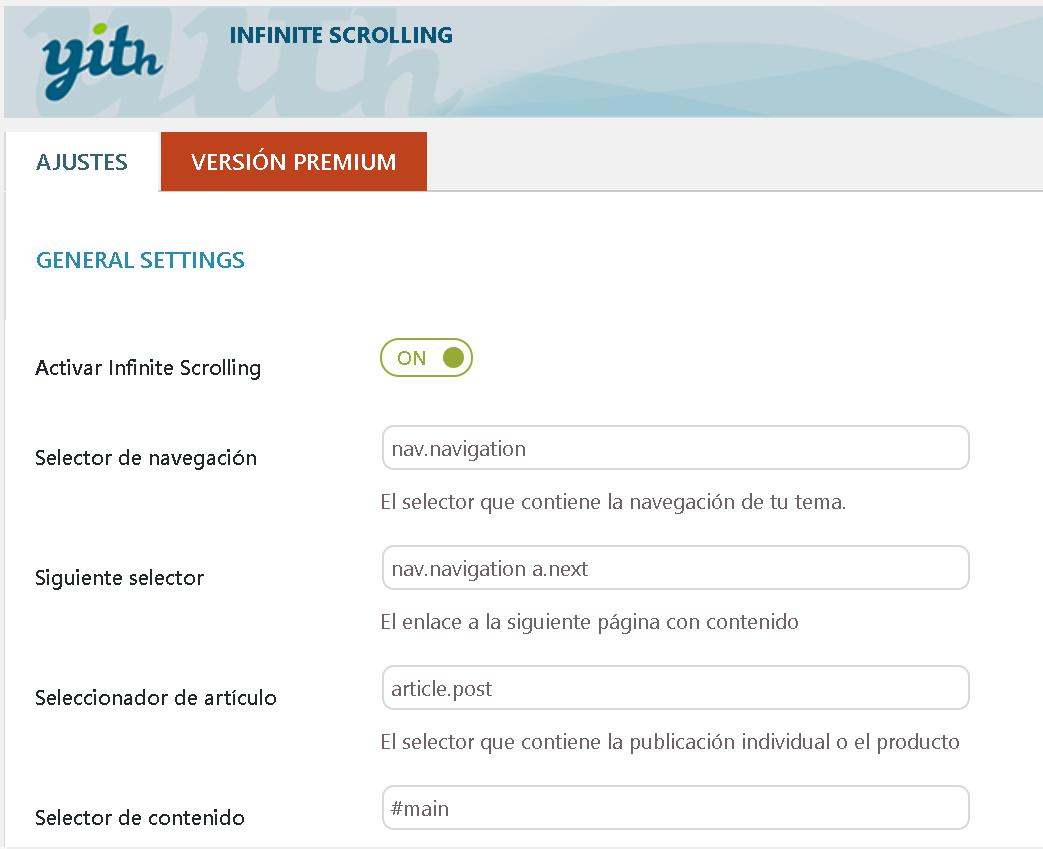 Plugin WordPress: Scroll Infinito