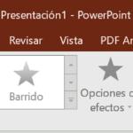 La ficha Animaciones de Powerpoint