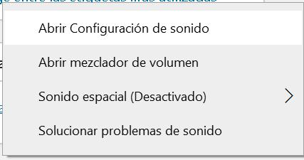 Configuración del sonido en Windows 10
