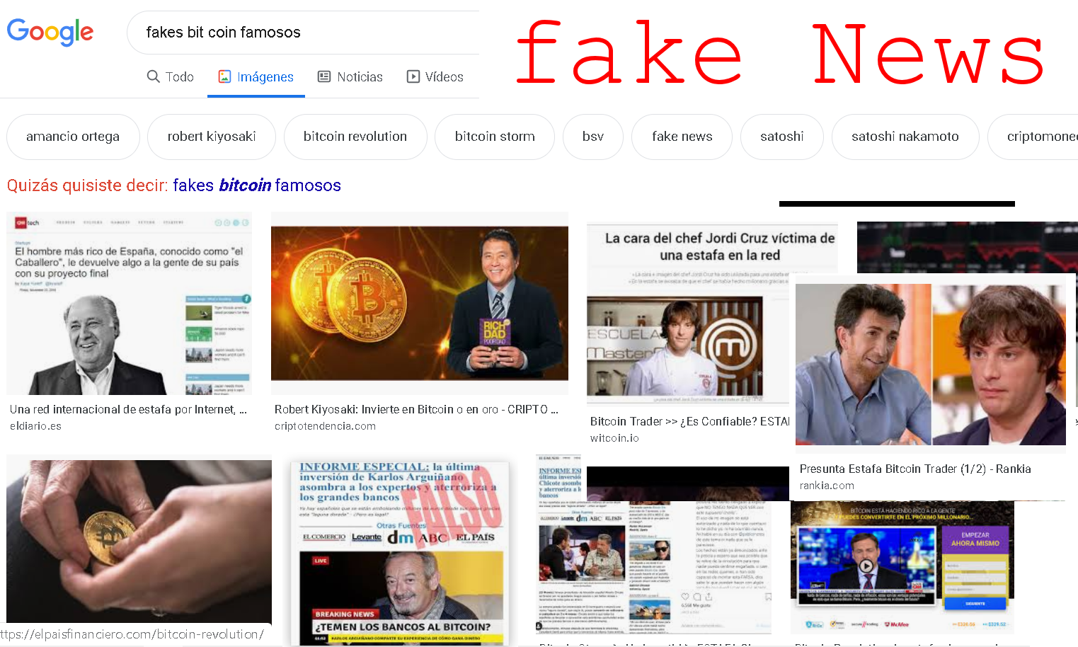 fake news famosos criptomonedas