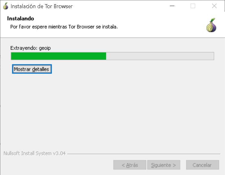 Instalación de TOR Browser