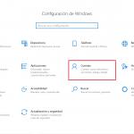 Opciones de Inicio de sesión de Windows 10