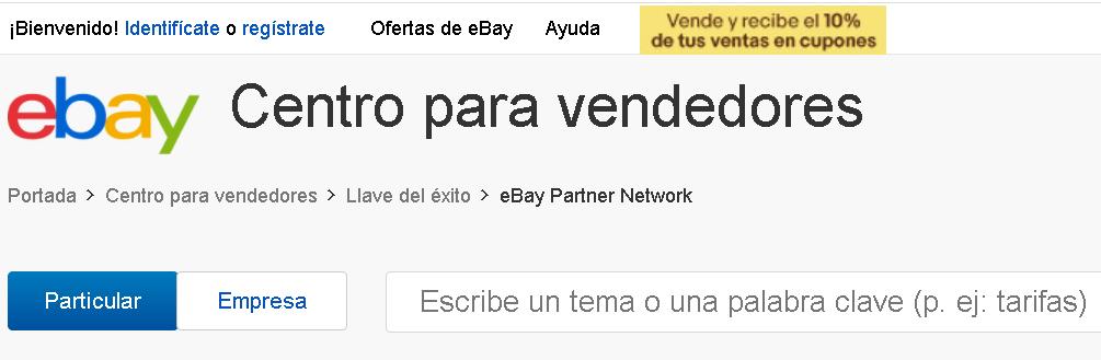 Programa de afiliados de ebay