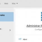 Administrar opciones adicionales en Windows 10