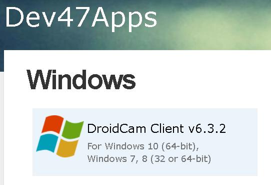 DroidCam para PC Windows