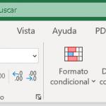 El menú de opciones y la cinta de herramientas de Excel 2019