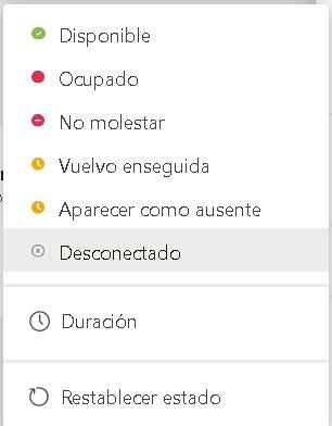 Estados de los usuarios