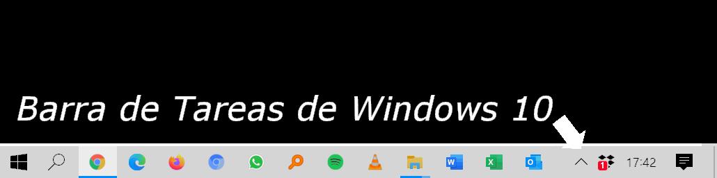 La barra de tareas de Windows 10